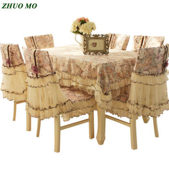 Lace fabric Rectangular Table Cover party wedding decoration table cloth Kitchen accessories chair covers home Decoration
