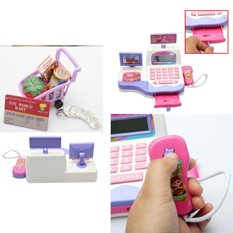Creative Kid Toy Pretend Play Supermarket Cash Register Scanner Checkout Counter цена