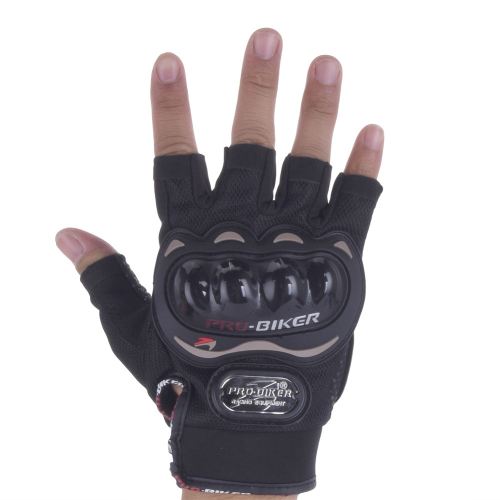 Motorcycle gloves half finger - Windproof Outdoor Sports Motorcycle Racing Gloves Half Finger Breathable Motorcycle Protective Gear Gloves For Men Women