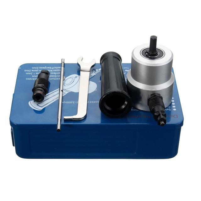 Nibble Metal Cutting Double Head Sheet Nibbler Saw Cutter Tool Sets Drill Attachment Cutting Tools Accessories Mayitr