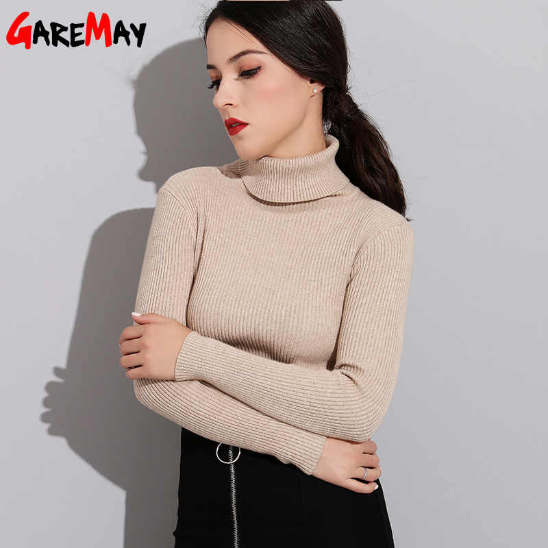 Turtleneck Women Sweater Warm Basic Thick Knitted Cashmere Women's Sweaters Female Ribbed Winter Green Sweater Women TurtleNeck
