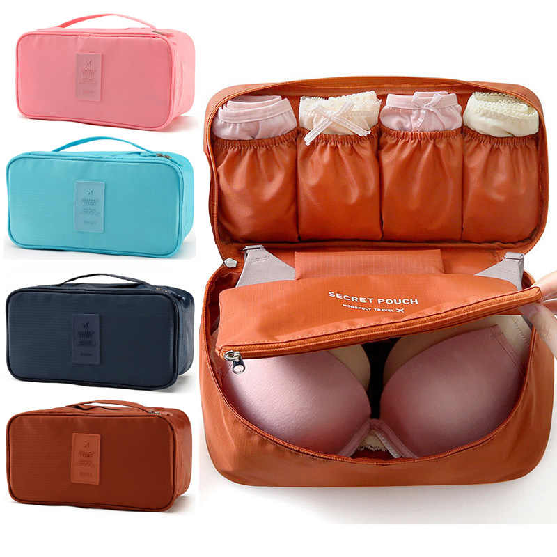 Cosmetic Underwear Organizer Lingerie Bra Travel Bag  Multi-function Pouch Zip Cases Clothes Bra Cloth art Pouch Suitcase