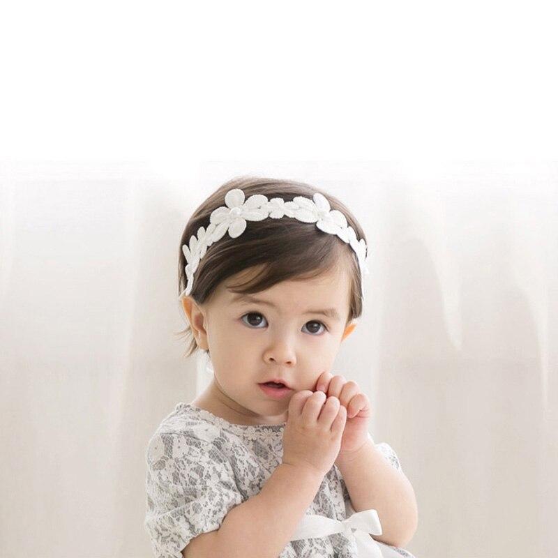 Verantwoordelijk Witte Bloemblaadjes Baby Meisje Hoofdband Peuter Baby 's Hair Band Elastiek Accessoires Zoete Prinses Hoofddeksels Voor Dress Up Hoofd Wrap
