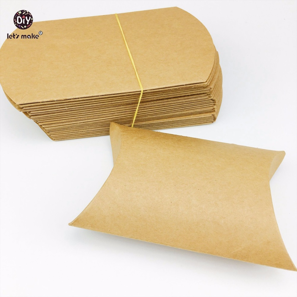 Lets Make 50pcs Baby Gift/Merchandise/Packing Box Kraft Paper Wedding Wrapping Jewelry Supply Nursuing Pendants Accessories Box