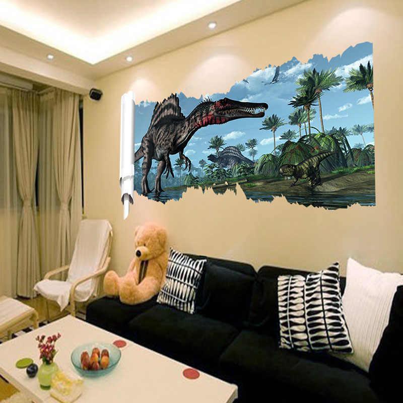 3D мультфильм Динозавр DIY стикер на стену s домашний декор искусство для спальни дети наклейка для гостиной украшения наклейки комнаты Аксессуары