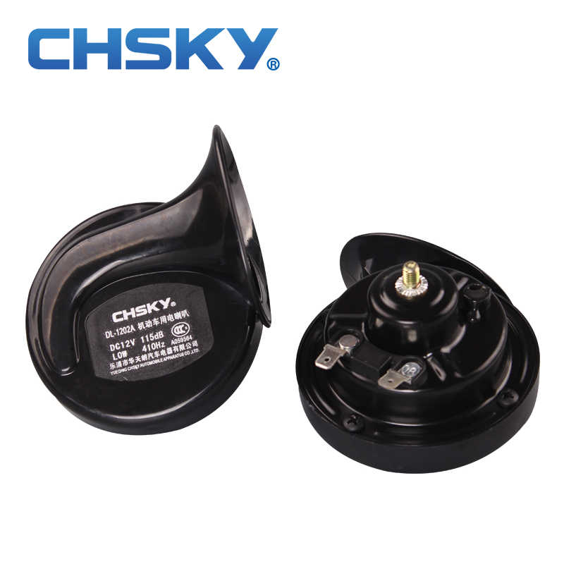 CHSKY Hot Sale Long Life Time Car Horn Loud Sound Snail Horn 12v Car Styling Parts Tungsten Point Manganese Steel Auto Horn