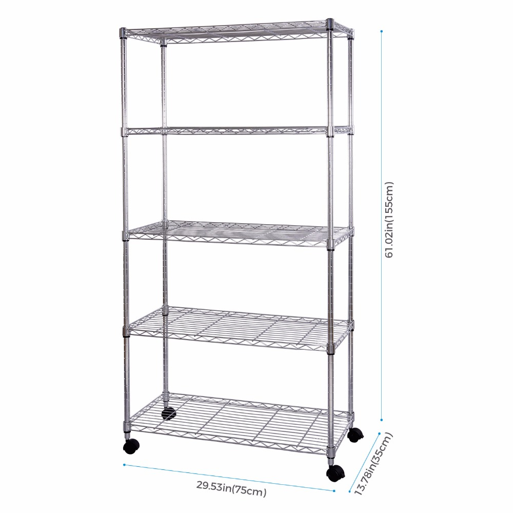 Aliexpress.com : Buy Lifewit 5 Tiers Rack Storage Organization Rack ...