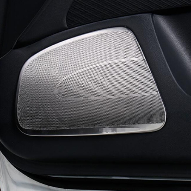 Front Dashboard Door Pillar Speaker Horn Sound Decorative Frame Sticker Cover Trim For Infiniti Q50 Q50l
