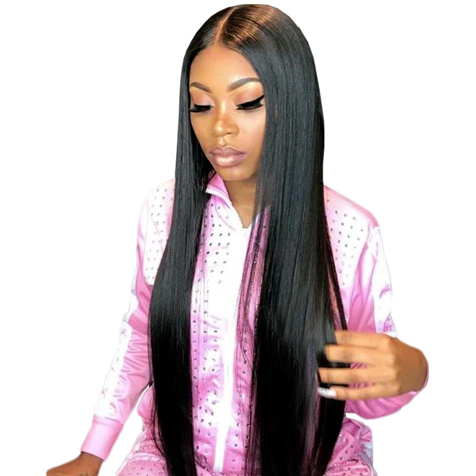 Peruvian Hair Bundles Straight Human Hair Bundles Lila Desire Remy - Mänskligt hår (svart) - Foto 2