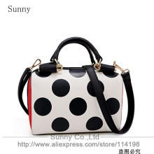 Women trendy fashion bucket bag dot messenger purse PU leather bolsa feminina handbags kawaii bag
