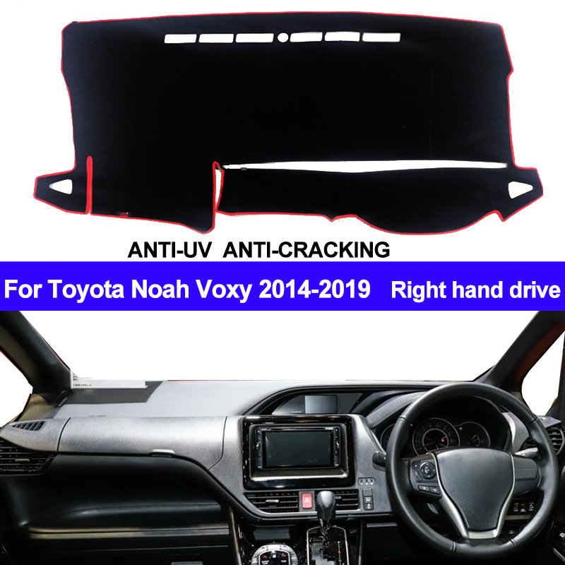 Car Dashboard Cover Dash Mat For Toyota Noah Voxy 2014 2015 2016 2017 2018 2019 Auto Sun Shade Mat Pad Carpet Right Hand Drive
