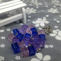 500pcs/lot wholesale square crystal vial pendant Glass Crystal perfume wish bottle name on rice art necklace diy jewelry gifts