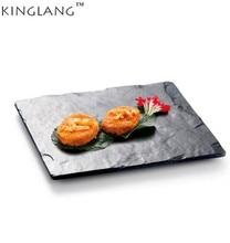 KINGLANG High Quality Plastic Melamine  Black Leaf Shape Special Restaurant Plate