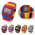Fashion Design Colorful Children Kid Boy Girl LED Silicone Digital Casual Watch