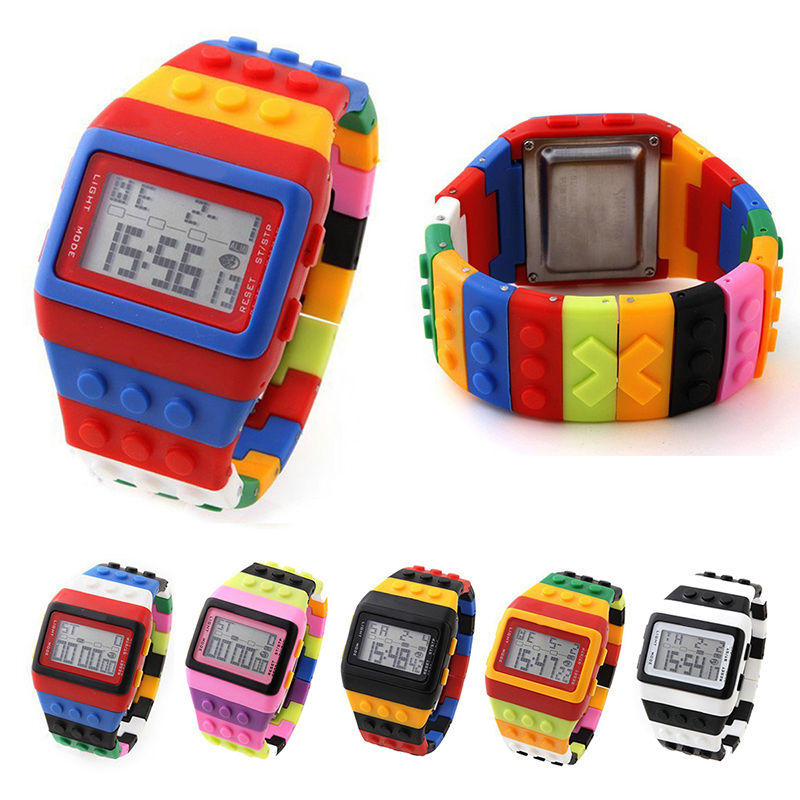 Fashion Design Colorful Children Kid Boy Girl LED Silicone Digital Casual Watch