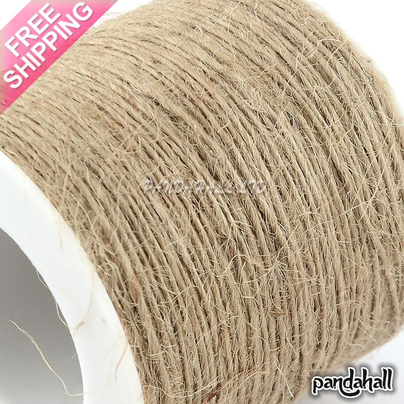 Hemp Cord Twine String, 1 Ply, for Jewelry Making, Tan, 1mm; about 100m/roll image