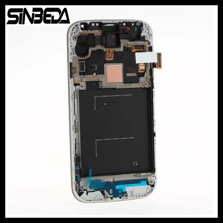 Sinbeda Super AMOLED LCD Écran Affichage Digitizer + Cadre Assemblée pour Samsung Galaxy S4 IV i9500 i9505 i9506 i545 m919 E300S