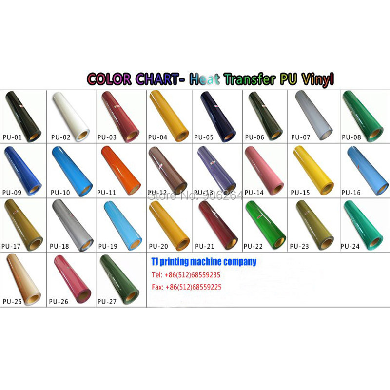 Free Shipping 15 Meters for One Lot Heat Transfer Film Vinyl Low Cost Package 55 Colors for Choosing Made in South Korea Quality quality guarantee yellow matte vinyl wrap film foil car sticker with air bubble free fedex free shipping size 1 52 30m roll