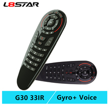 G30S Voice Air Mouse universal Remote control 33 keys IR learning Gyro Sensing Wireless Smart remote for android tv box X96 mini l8star g10 air mouse voice control with 2 4g usb receiver gyro sensing mini wireless smart remote for android tv box