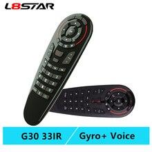 G30S ratón de aire por voz mando a distancia universal, 33 teclas, sensor giroscópico de aprendizaje, inalámbrico, control remoto inteligente para android tv box X96 mini