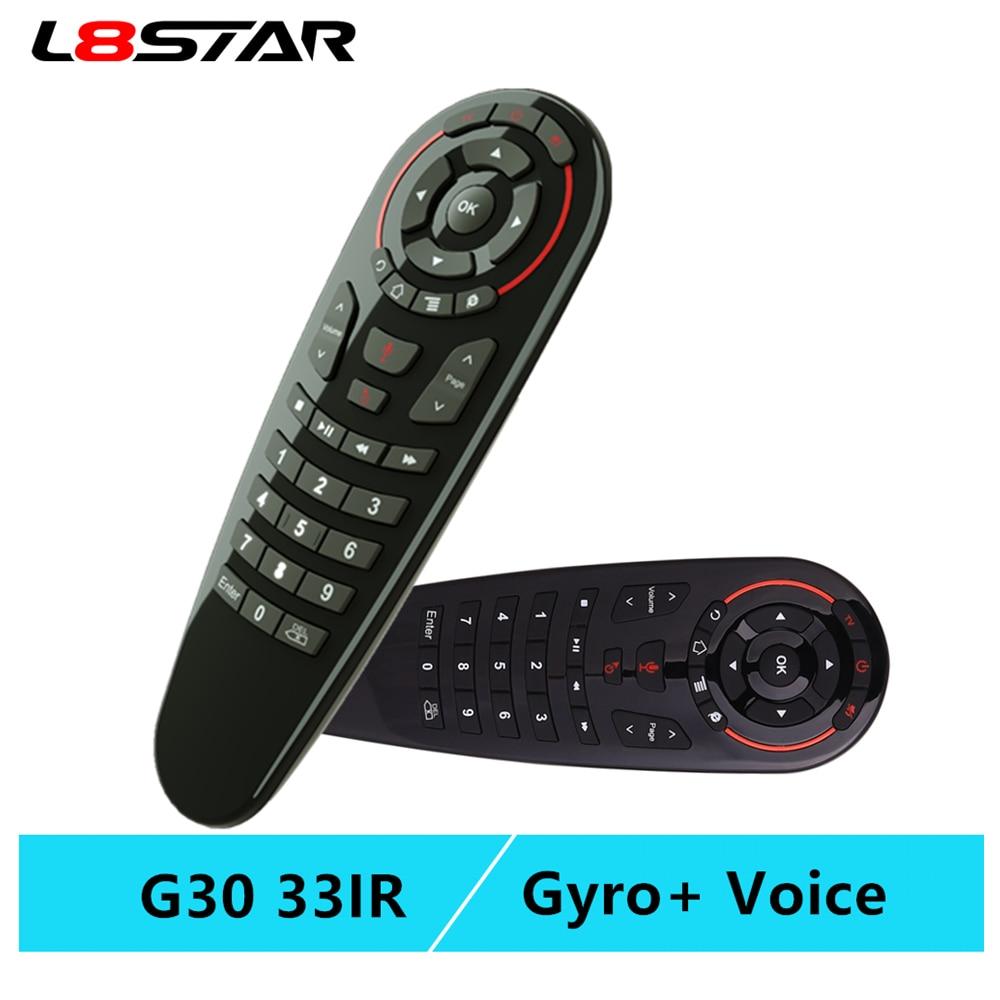 G30S voix Air souris télécommande universelle 33 touches IR apprentissage gyroscope détection sans fil télécommande intelligente pour android tv box X96 mini