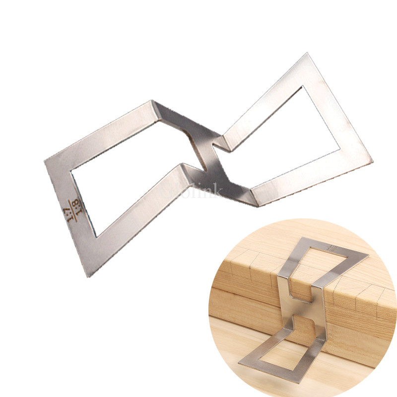 Us 4 56 32 Off Stainless Steel Dovetail Gauge Dovetail Marker Hand Cut Wood Joints Gauge Dovetail Guide Marking Size 1 5 1 6 1 7 1 8 In Protractors