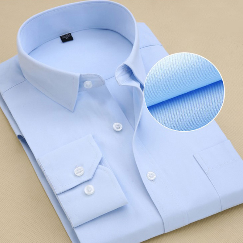 6XL 7XL 8XL 9XL 48  Men Work Shirt Men's Shirt Long Sleeve Larger Size Shirts Slim Fit Male Social Business Dress Shirt