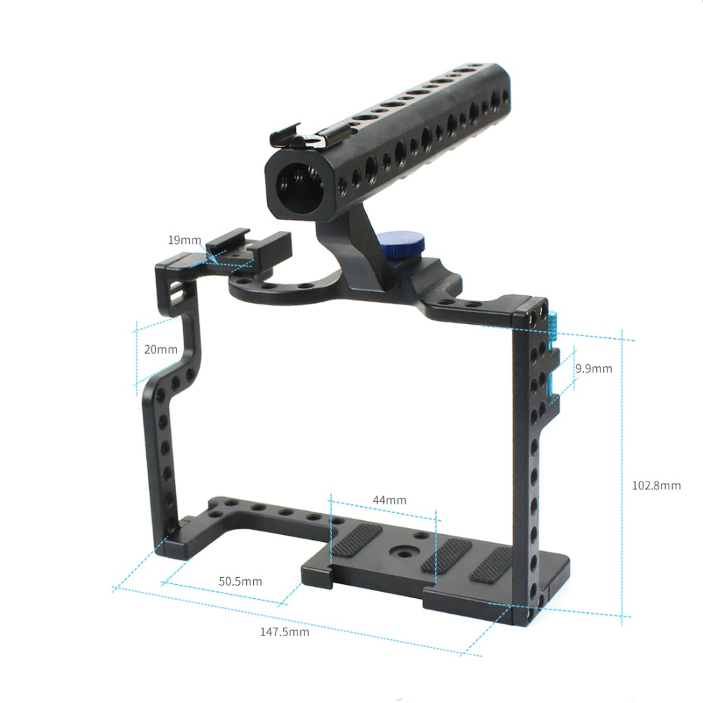 cheapest Camera Cage for Panasonic Lumix GH5   GH5s Protective Case Mirrorless System Cam Mounting Bracket Aluminum with Top Handle Grip