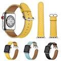 Ремешок для часов Apple Watch  4 цвета  ремешок из натуральной кожи для Apple Watch  1  2  3  iWatch  38-42 мм