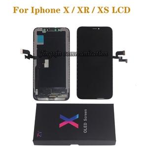 Image 1 - חדש LCD עבור iPhone X XS XR גמיש נוקשה קשה OLED LCD עבור iPhone X XS GX AMOLED תצוגת רך עם 3D מגע ערכת תיקון