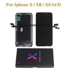 شاشة LCD جديدة لهاتف iPhone X XS XR مرنة متينة OLED LCD لهاتف iPhone X XS GX AMOLED شاشة ناعمة مع عدة إصلاح تعمل باللمس ثلاثية الأبعاد
