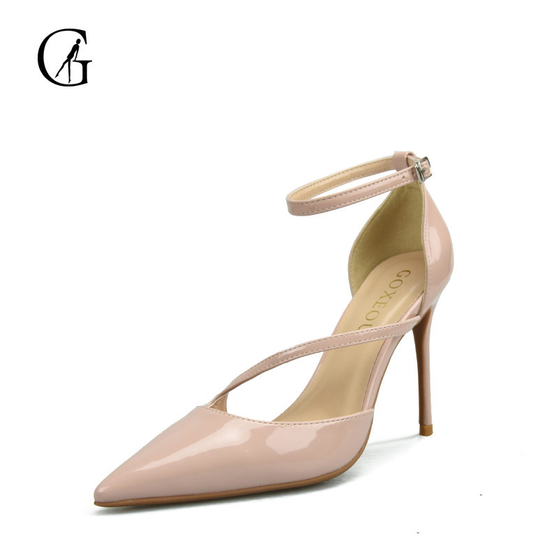 GOXEOU Brand Women Shoes Sandal New Design Summer Spring Autumn Heels High heel Thin Heel Star Product Plus size free shipping 2016 spring and summer free shipping red new fashion design shoes african women print rt 3