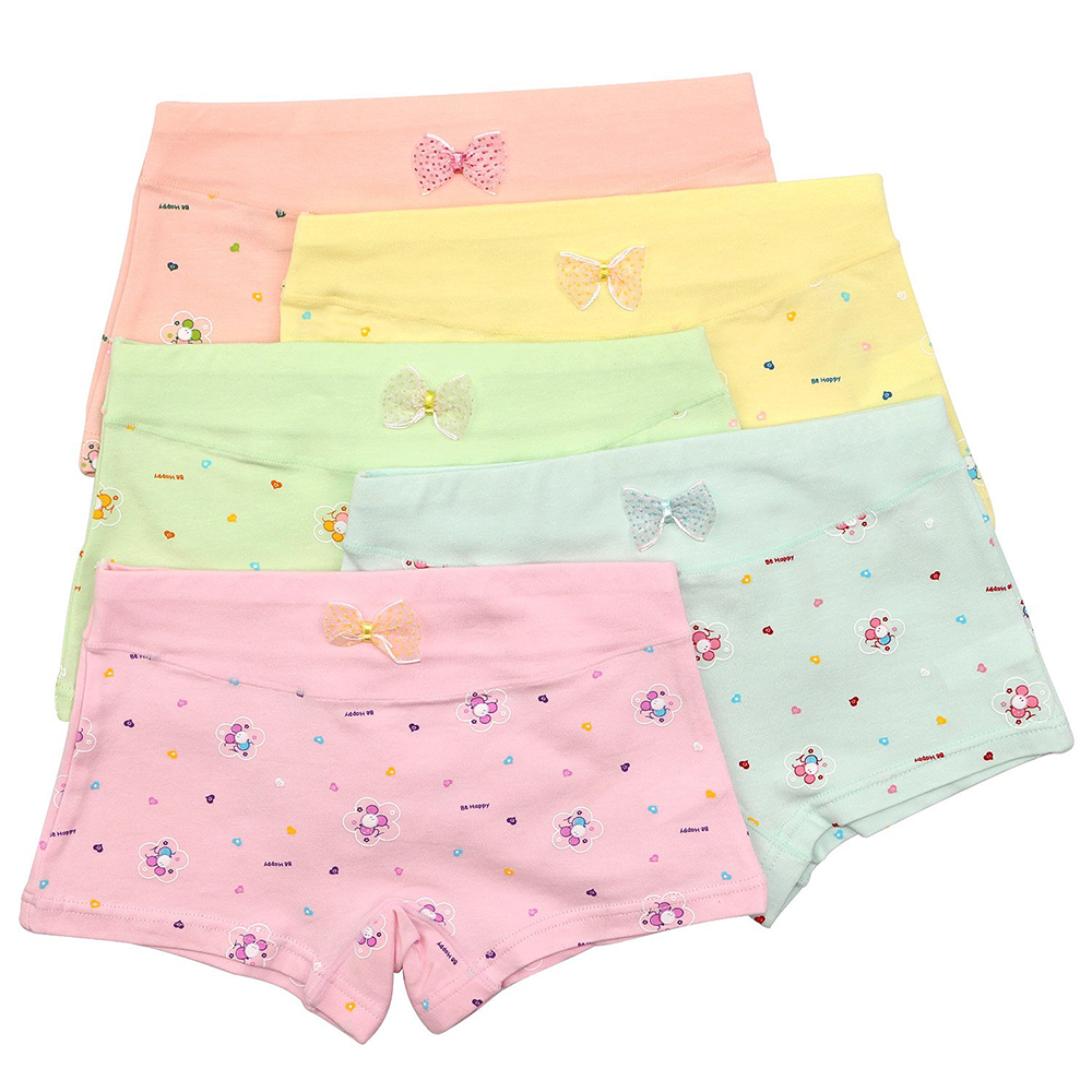 9058e5101620 5 Pack Girls Boxer Brief Underwear Toddler Little Hipster Boyshort Kids Briefs  Cotton Panties Set for Girls Kids Size 2 12 Years-in Panties from Mother ...