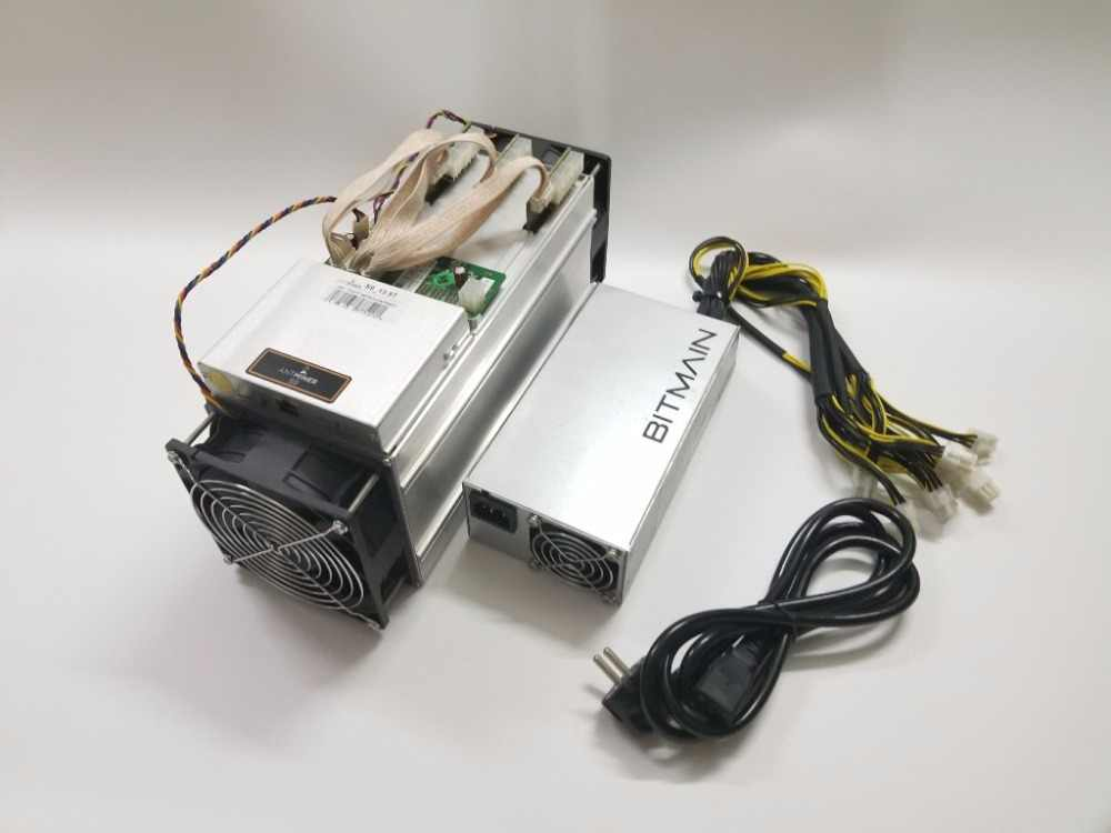 Используется AntMiner S9 13,5 T с битмайном APW3 + + 1600 Вт блок питания Asic Bitecoin BTC BCH Шахтер лучше чем WhatsMiner M3