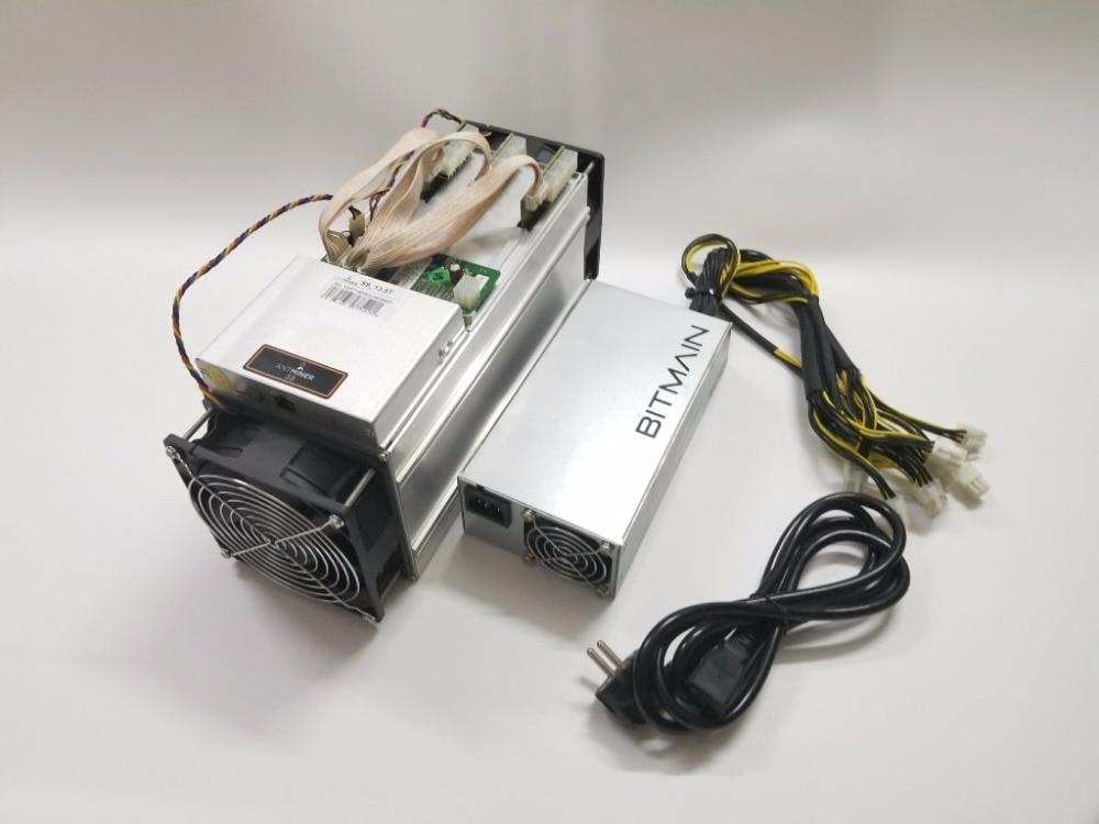 Utilizzato AntMiner S9 13.5T Con BITMAIN APW3 + + 1600W di Potenza di Alimentazione Asic Bitecoin BTC BCH Minatore Meglio di whatsMiner M3