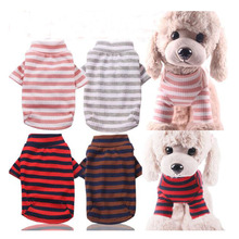 Dog Hoodie Pug-Poodle Cotton for Dog-Xs-Xxl 4-Colors Stripped Elasticity