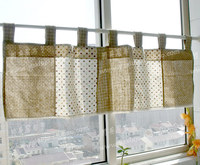 Free shipping beautiful coffee curtain semi shade small short curtain kitchen curtains for living room bedroom 45*130CM