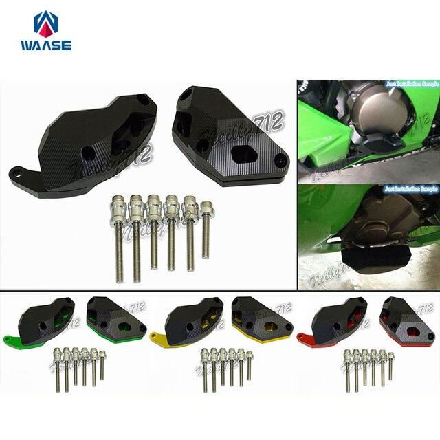 waase Motorcycle Engine Crash Guard Pad Frame Slider Protector For ...