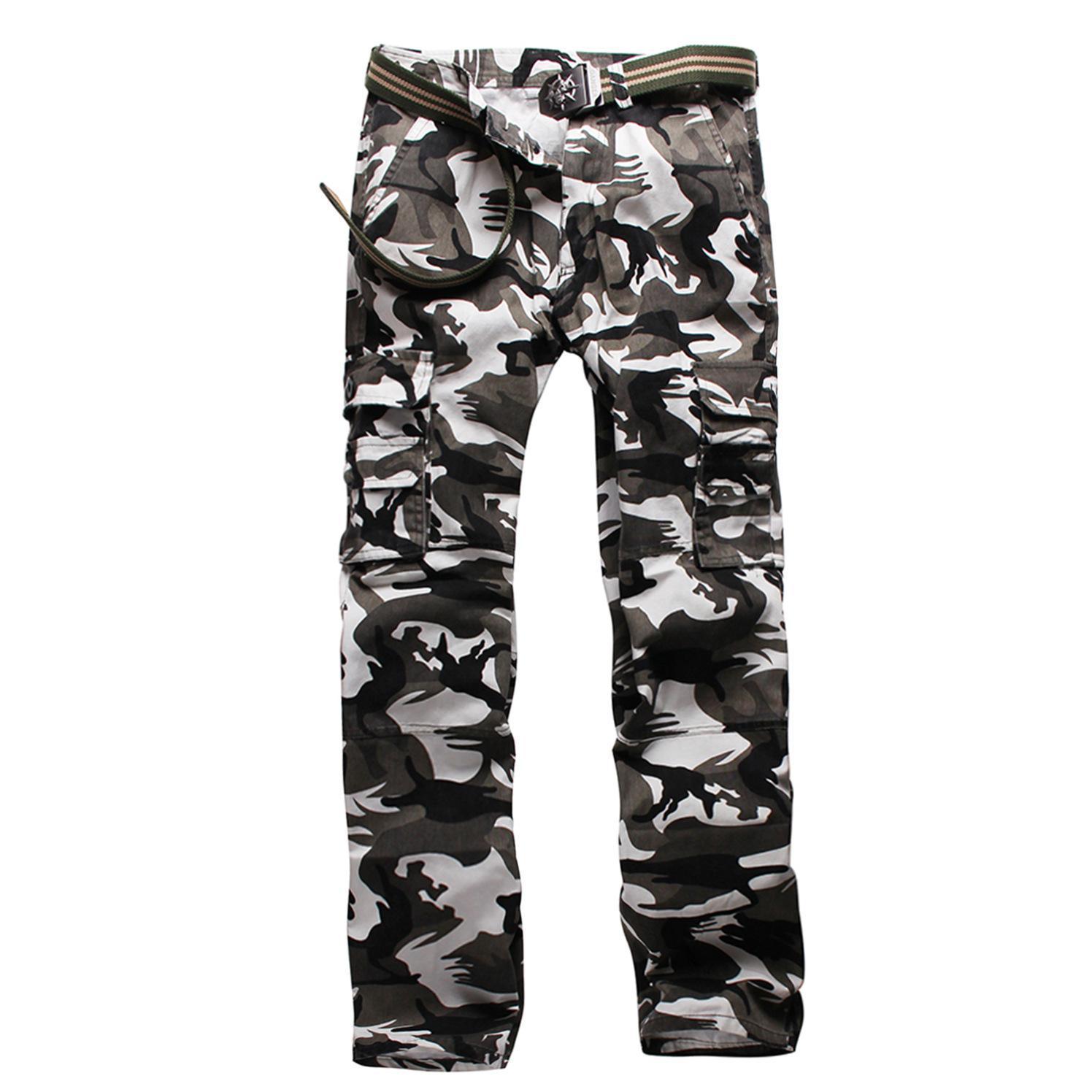 Image 2 - Тактические штаны, джинсы Airborne, повседневные, размера плюс, хлопковые, дышащие, мульти карманы, военные, армейские, камуфляжные, брюки карго для мужчин-in Брюки-карго from Мужская одежда