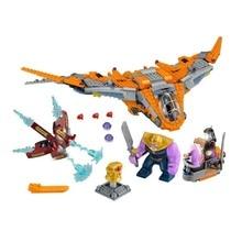 709PCS 76107 Marvel Super Heroes Avengers Infinity War Thanos Ultimate Battle Building Blocks Toys Legoings For Children