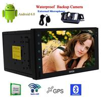 Android 6.0 ADET Oto No-DVD Tablet 2 iki din Araba Stereo 4-Core USB BT Araç Multimedya Ana Ünite Autoradio FM Alıcısı GPS Radyo KAM