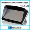 FPV FPV 7 pulgadas TFT LCD 800x480 HD TFT Bule pantalla de Monitor de Fotografía para la Estación Terrena ZMR250 QAV280 QAV250 AVIÓN RC COCHE