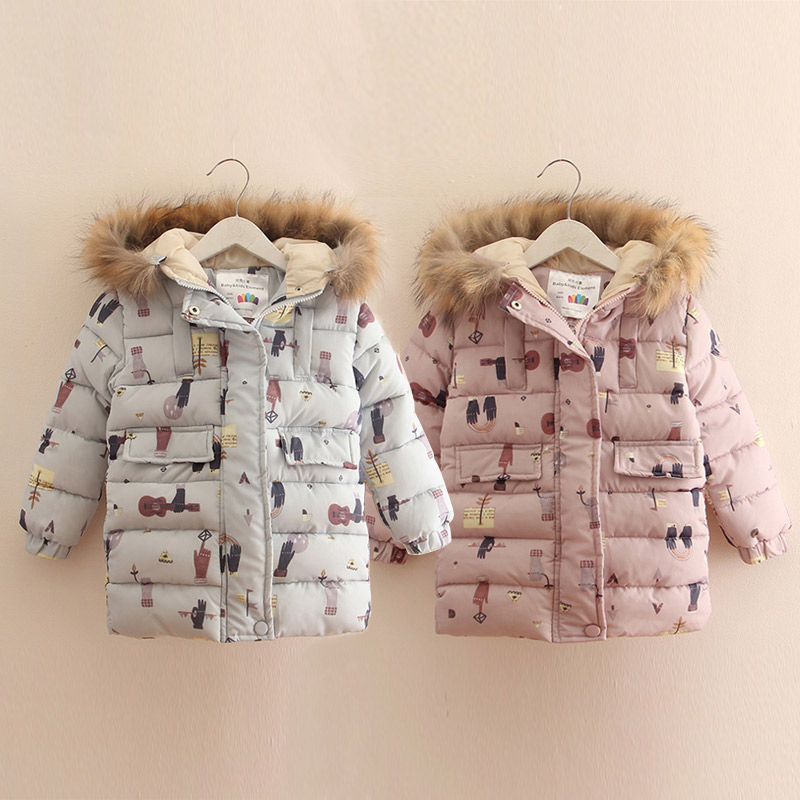 Baby girl cotton-padded jacket 2017 winter child thickening with a hood outerwear girl  hooded Cartoon coats children clothes children winter coats jacket baby boys warm outerwear thickening outdoors kids snow proof coat parkas cotton padded clothes