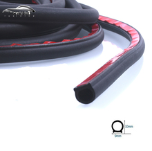 6 Meter/pcs small D 9*10mm car sound insulation sealing rubber strip anti Noise Rubber 3m Sticky Tape car door seal
