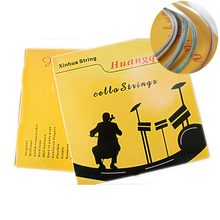 3/4  4/4 Size Intermediate Cello Strings Magnesium Aluminum Beginner Strings  C D G  A  4 pcs/ set Cello Accessories