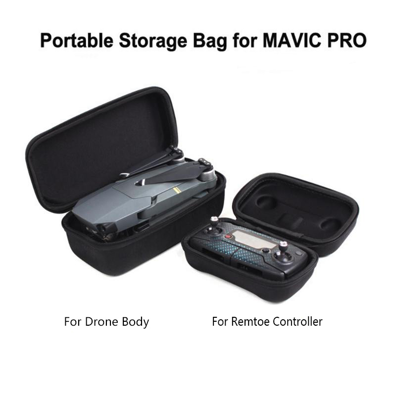 ALLOET Portable Waterproof Foldable Camera Drone Carrying Case For DJI Mavic Pro Drone Remote Controller Storage Bag Housing Box
