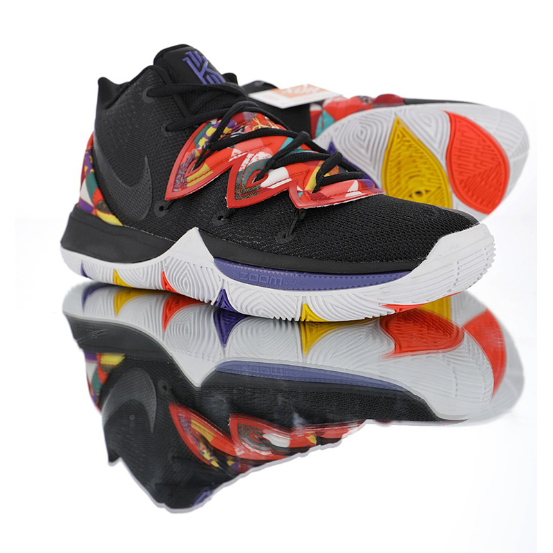 d225bff706 Original Nike Kyrie 5 Generation Men's Basketball Shoes Shock Absorption  Black Wear Resistant Outdoor Sneakers