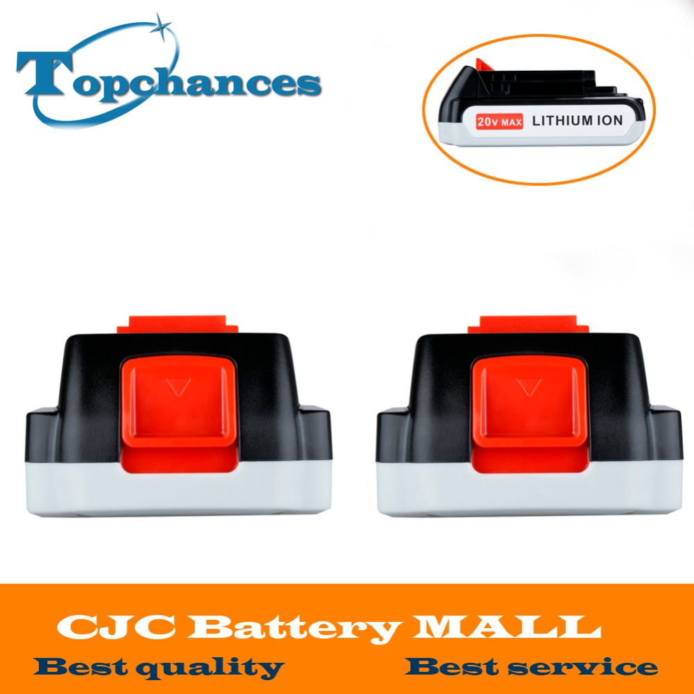 2X High Quality 20V 2000mAh Li ion Rechargeable Battery font b Power b font font b