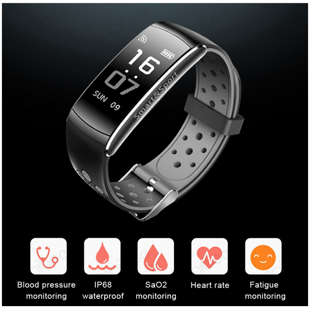 IP68 Waterproof Swim Sport Smart Bracelet Blood Pressure Heart Rate Monitor Fitness Tracker Bluetooth Wrist Band Watch Smartband