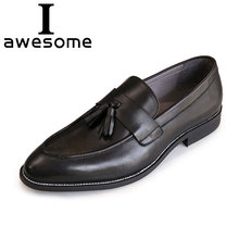 tassel business men shoes Genuine leather elegant dress flats Party footwear luxury brand oxford Formal Loafers 0412